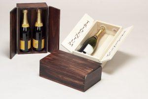 Casete din lemn pentru vin - 2 sticle